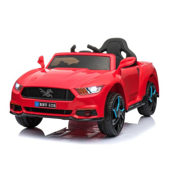 China Mustang Car Kids Electric Ride On Kids Steering Wheel Toy