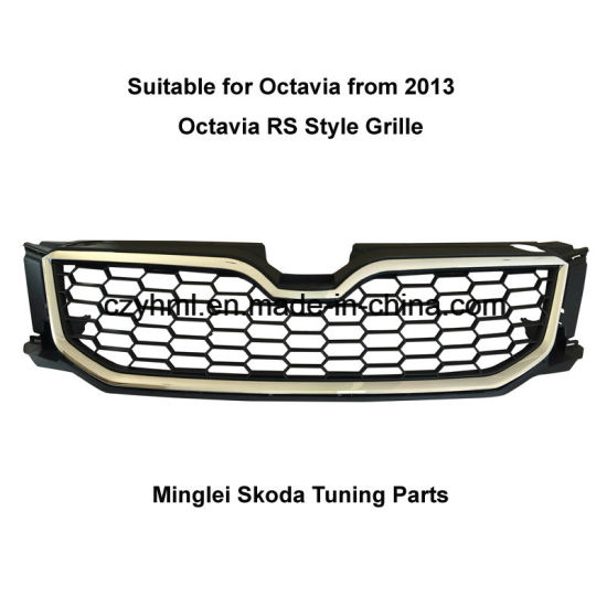 Tuning Parts Car Grille for Octavia A7 and Octavia A7 RS From 2013 MK3