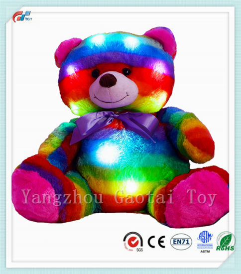 China Led Light Up Multi Color Teddy Bear 14 With Timer Colorful