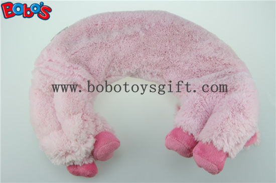 Microwave Heated Plush Pig Neck Pillow Filled with Flaxseeds and Larender pictures & photos