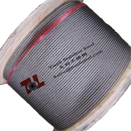 SUS 316 6mm 7X19 Stainless Wire Rope From Tianli Stainless Steel pictures & photos