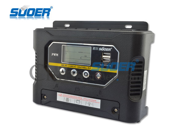 Suoer 12V 40A PWM Solar Charge Controller for Solar Power System (ST-W1240) pictures & photos