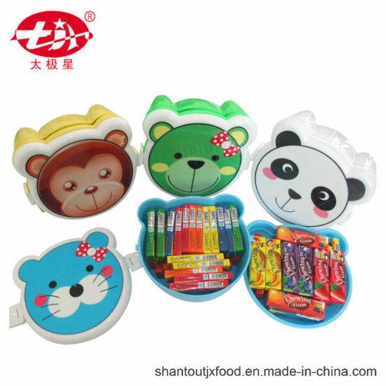 Baby Bear Lunch Box Chewing Gum with Tattoo