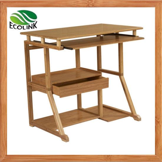 China Bamboo Computer Table Pc Desk, Bamboo Computer Desk