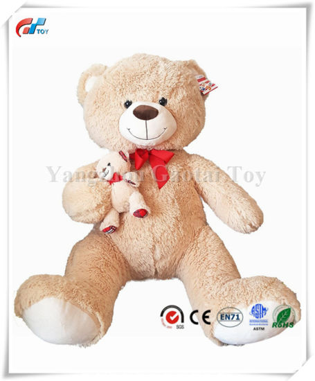 Light Brownteddy Bear Giant Plush Mommy and Me Stuffed Toy