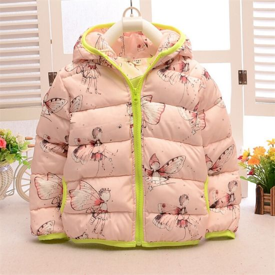 481aef1c1b544 C12810 Newest Kids Winter Wear Baby Girls Lovely Eiderdown Cotton Coat  Short Hooded Elfin Thick Down