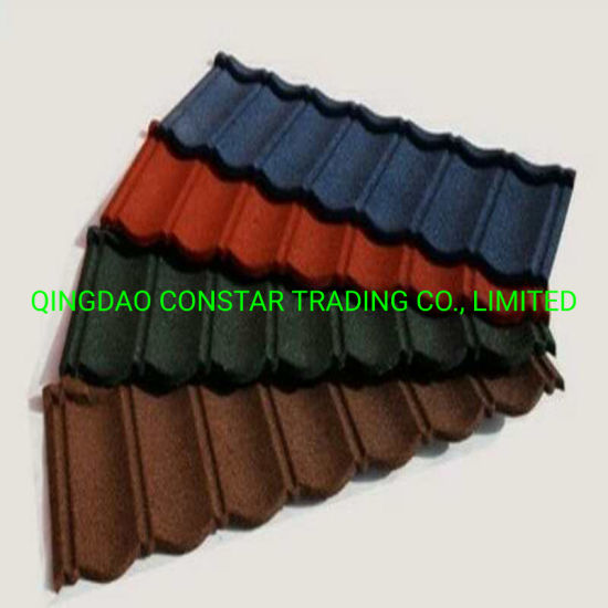 Building Roofing Materials Stone Coated Steel Roof Bond Tiles for Sale