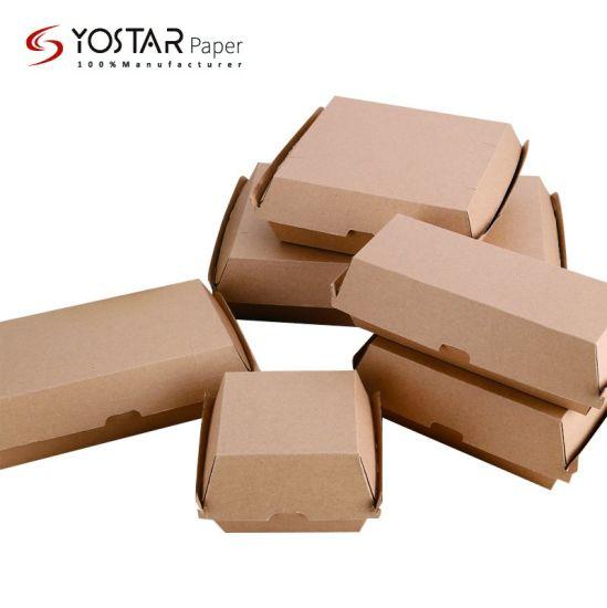 Disposable Paper Corrugated Cardboard Food Packaging Hot Dog Box, Hamburger Lunch Box