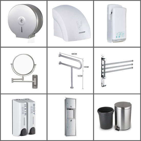 304 Stainless Steel Building Materials Hotel Project Public Toilet Sanitary Ware Factory with Good Quality and Low Price