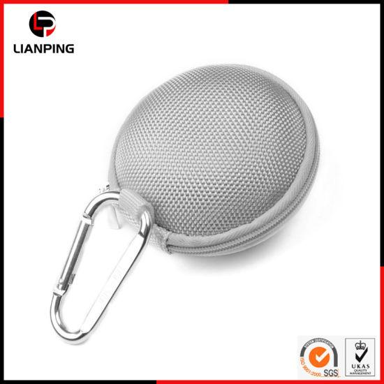 Customized Portable Zipper Waterproof Shockproof Hard EVA Earphone Carrying Case