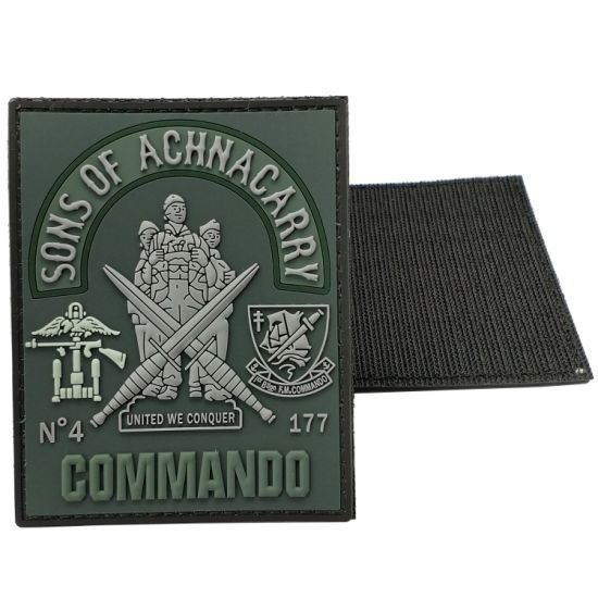 Wholesale Custom Any Design Garment Accessories Velcro PVC Rubber Patch Us Tactical Gear Military Navy Army Police Uniform Badges in China Maker