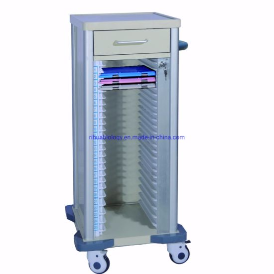 Single File Cart 25 Compartment Drawer to Hospital Furniture