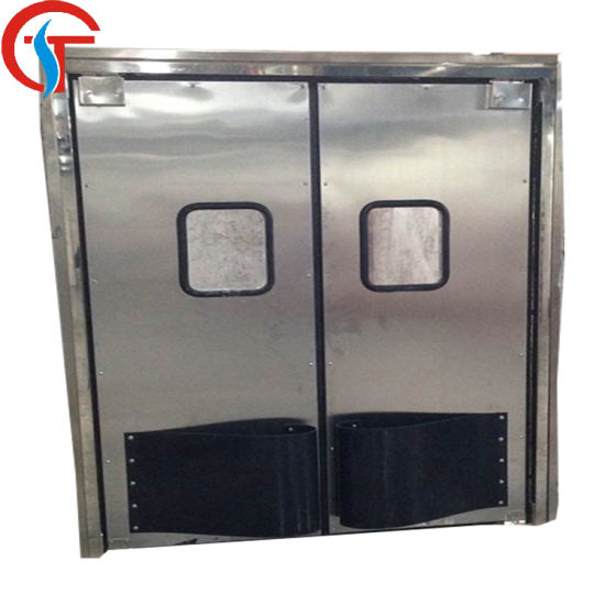 Guangdong Good Quality Stainless Steel Impact Traffic Swing Door pictures & photos