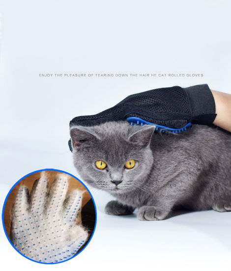 Dog and Cat Cleaning Tools Massage Gloves Brush Silicone Pet Bath Gloves