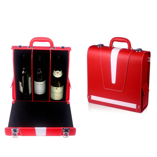 Wine Packaging Boxes Wood Wood Bottle Holder Wine Bottle Carrier Case (6821)