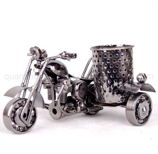 OEM Crafts Decoration Motorcycle Model Metal Pen Holder pictures & photos