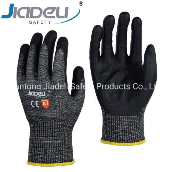 13 Gauge Black A7 Shell, Black Foam Nitrile on Palm