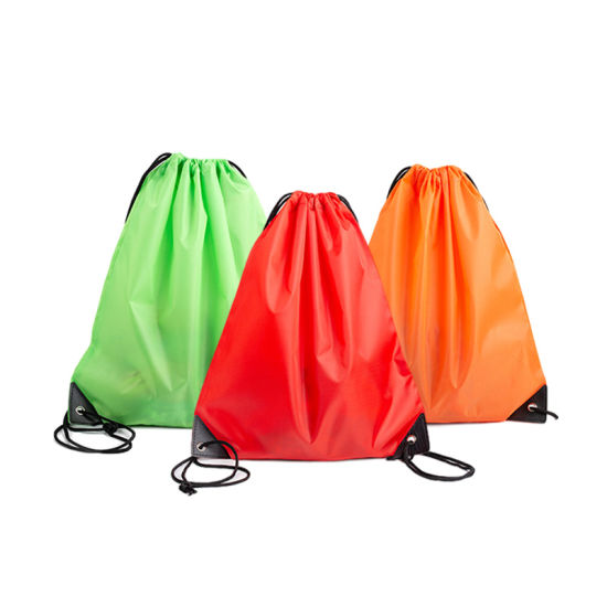 Polyester Waterproof Custom Printing Gym Sports Drawstring Packaging Bag