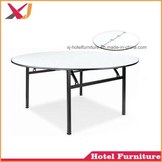 Wholesale Cheap Folding 6FT Round PVC Banquet Table
