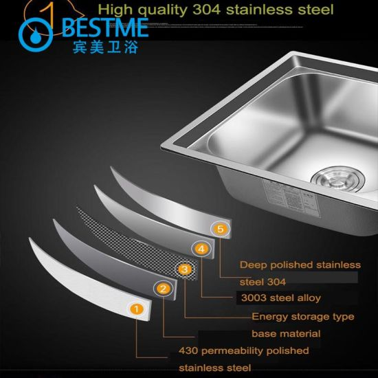 304 Stainless Steel Kitchen Sink Kitchen Furniture 5042h pictures & photos