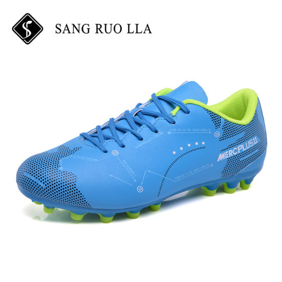 New Design Casual Popular Mens All Blue Football Soccer Cleats Shoes for Sale