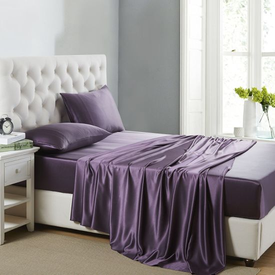 2017 Good Price100% Mulberry Silk Bed Sheet pictures & photos
