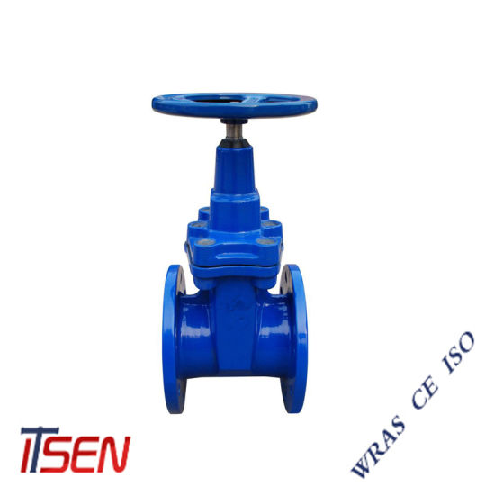 DIN3352 F4 Pn16 Resilient Seated / Rubber Wedge Non-Rising Stem Cast Iron Water Gate Valve of Flange / Knife / Socket / Wafer Type