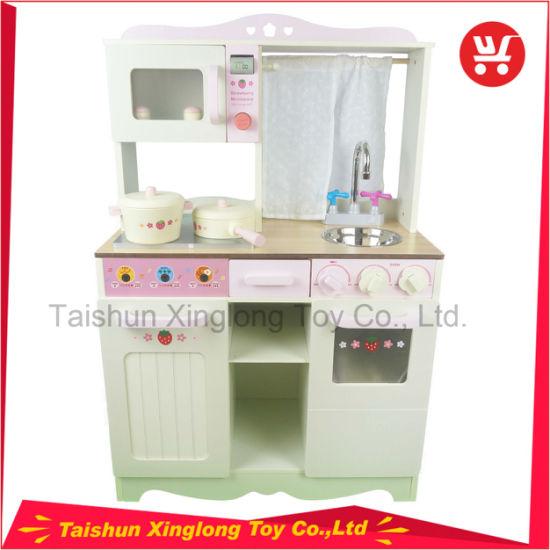 China Kids Wooden Toy Kitchen Play Set Big Design Wooden Kids