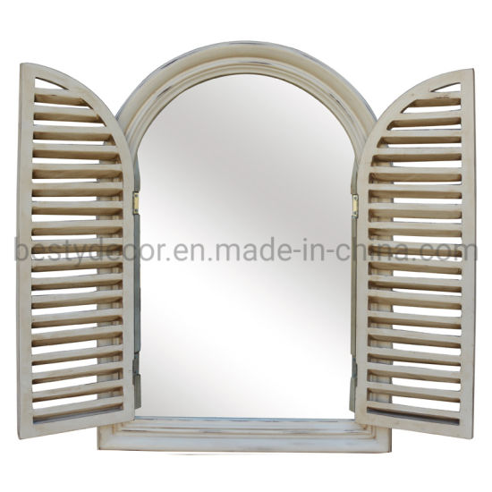 China French Chic Arched Window Frame, Decorative Window Frame Mirrors