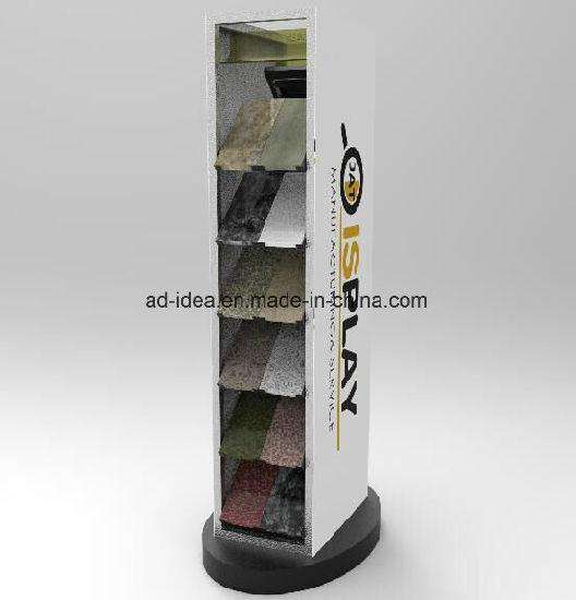 Marble/Quartz/Stone/Ceramic Sample Tile Board Wing Flooring Showroom Spinning Display Rack