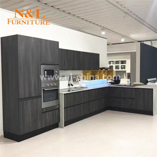 China N&L Cheap Project Melamine U Shape Kitchen Cabinet
