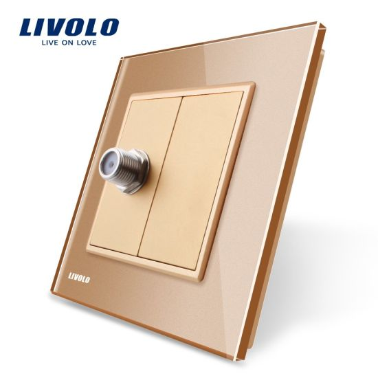 China Livolo EU Standard Satellite TV Socket Wall Power Outlet Vl ...