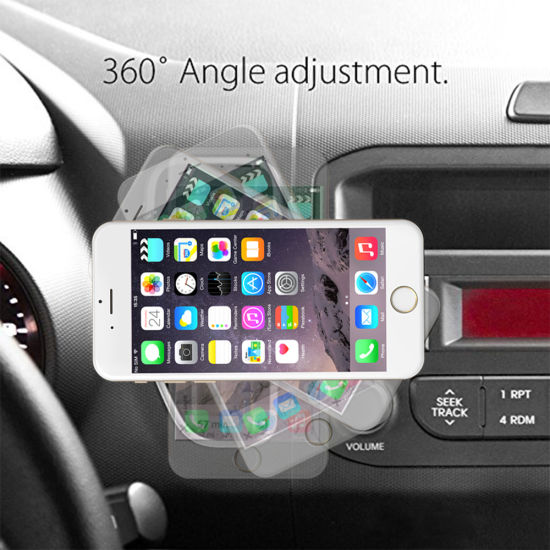 Car Phone Mount Magnetic Air Vent Car Mount Universal Cell Phone Holder with 4 Strong Metal Plate pictures & photos