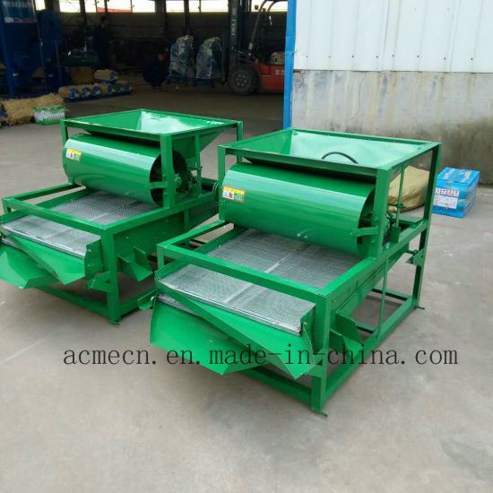 Raw Grain of Rice Vibrating Screening Double Deck Vibration Cleaning Screen  Paddy Seeds Cleaner
