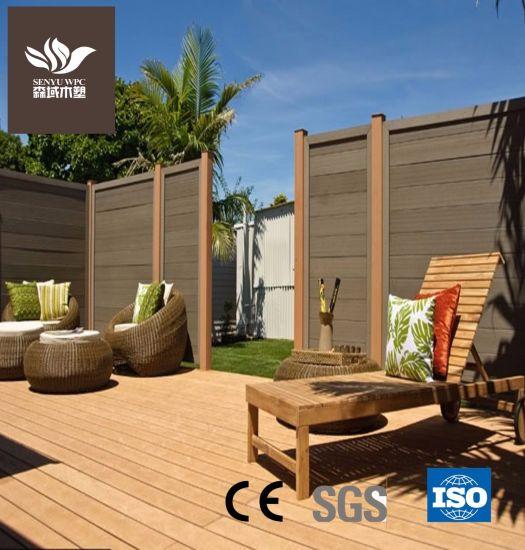 Building Material Outdoor Waterproof Wearable Hollow WPC Wood Plastic Flooring