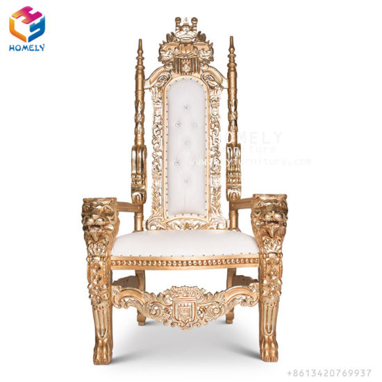China Royal Queen White Gold Silver Wedding Sofa King
