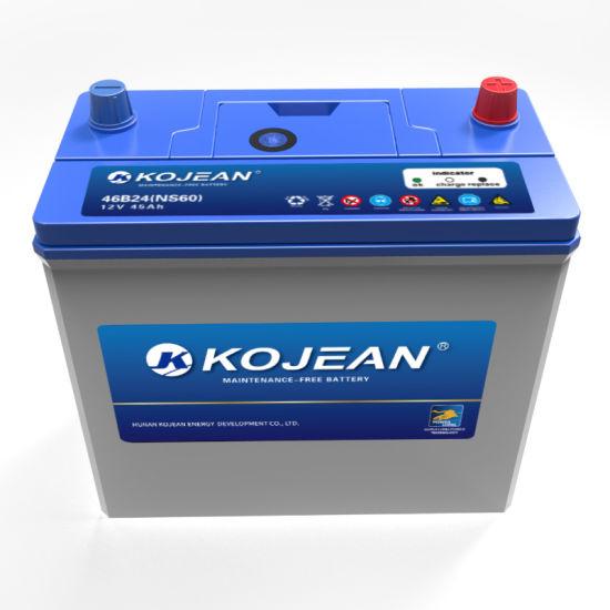 Factory Ns60mf JIS 12V 45ah Maintenance Free Lead Acid Automotive Car Battery