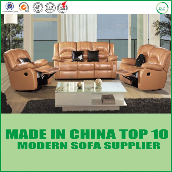 European Modern Recliner Sectional Leather Function Sofa For Living