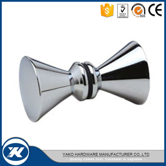 Hot Sale Stainless Steel Commercial Washroom Tempered Glass Door Knob