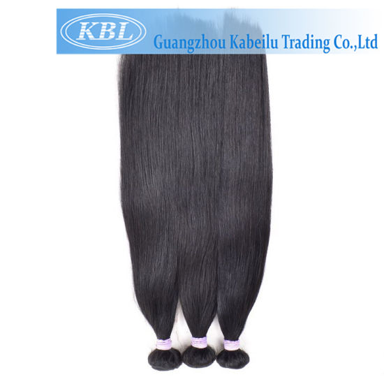 Cheap Brazilian Jet Black Human Hair Extension pictures & photos