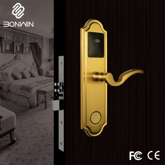 Best Price For Electronic Antique Brass Door Lock With Handles