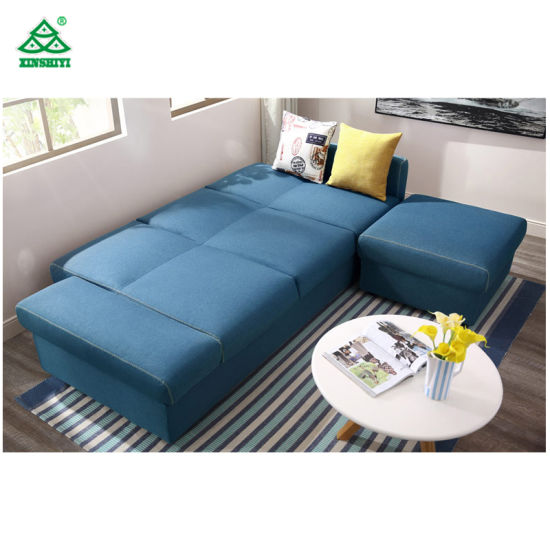 Contemporary Reception Living Room Sofa Set L Shaped Sofa Large Size Eco    Friendly
