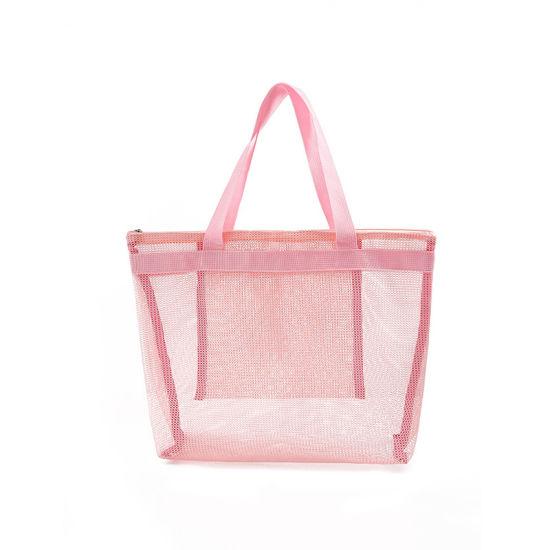 China High Capacity Women Mesh Transparent Bag Double Layer Heat Preservation Large Picnic Beach Bags China Beach Bag And Handbag Price