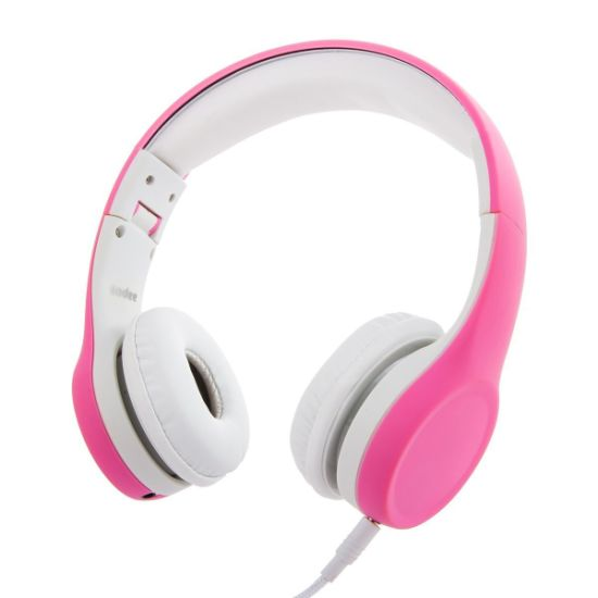 Wired Volume Limiting Kids Headphones Foldable Over Ear Headphones with Music Sharing Function and Detachable Cable for Children Boys Girls (Pink) pictures & photos