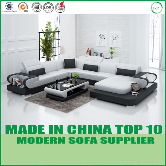 [Hot Item] Modern Italian Leather Sofa Set Home Furniture