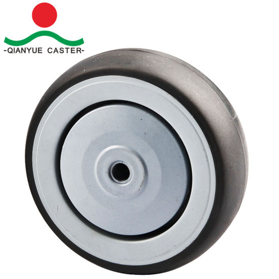 High Quality 5 Inch Shopping Cart Caster with Screw Bolt, USA Style PU Caster Wheel pictures & photos