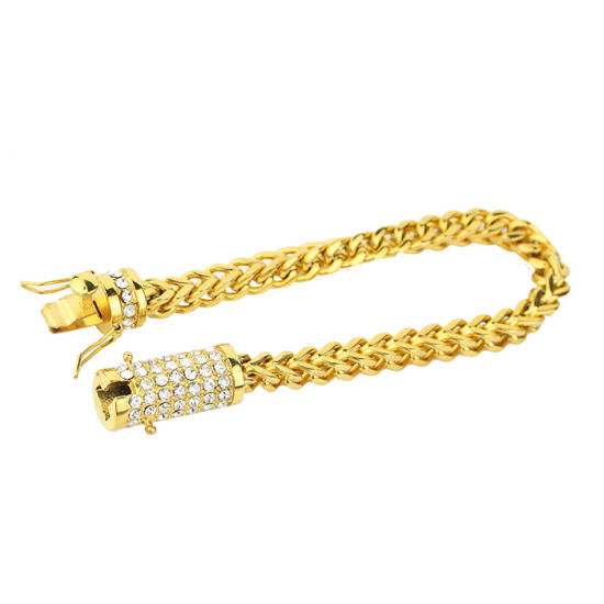 diamond mm nyc mens bracelet inch yellow tradesy gold franco ct i