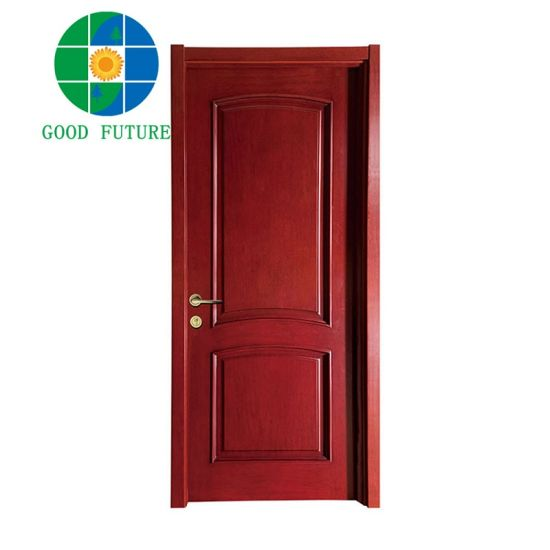 Good Future Factory Cheap Honeycomb Core, Solid Wood Skeleton Interior Molded MDF/HDF Flush Wooden Door From China