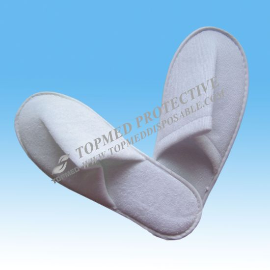 Embossed Logo Slippers, Terry Towel Slippers, Personalized Hotel Slippers pictures & photos