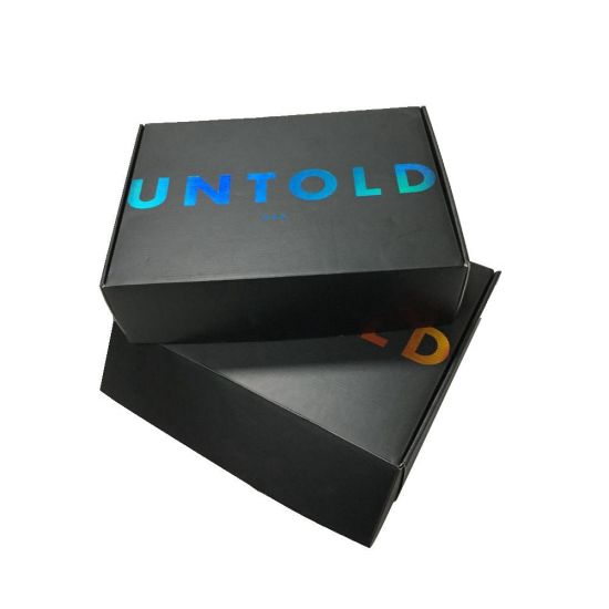 Matt Black Mailing Shipping Paper Box with Logo UV Finish pictures & photos